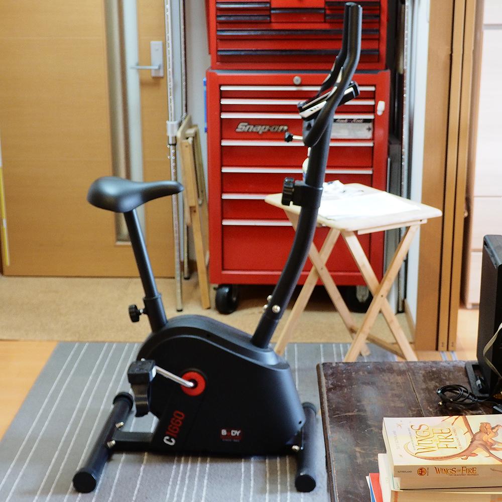 設置、エクササイズバイク